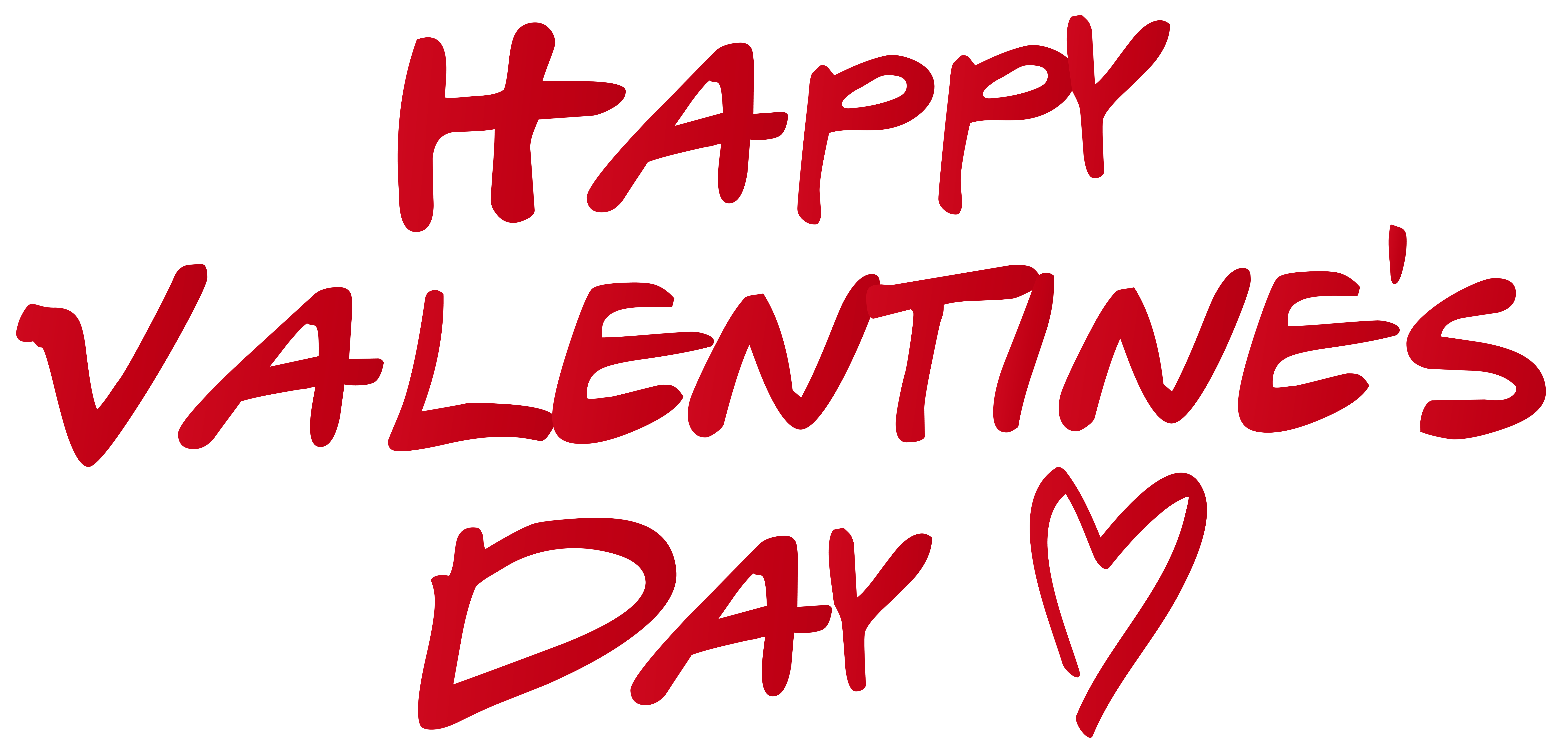 Happy Valentine's Day PNG Clip Art Image.