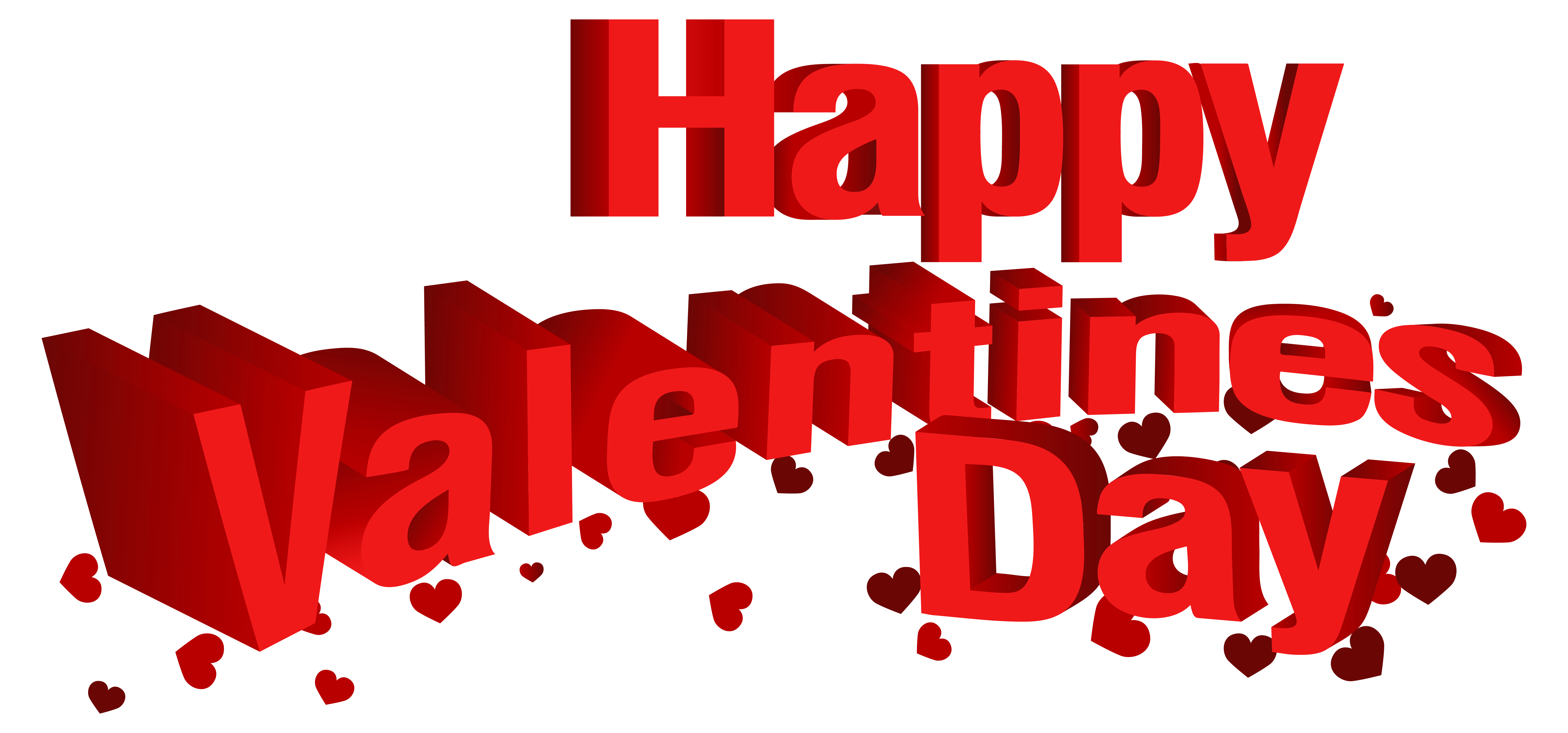 Happy Valentine's Day Transparent PNG Clip Art Image.