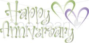 Clip Art Happy Anniversary.