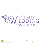25th Wedding Anniversary Clipart.