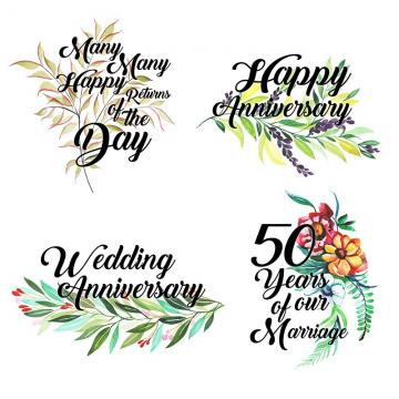 Happy Anniversary PNG Images.