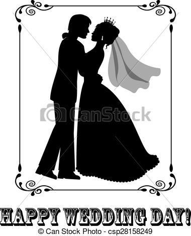 Vectors of Happy Wedding Day.