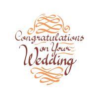 Happy wedding wish Vector Image.