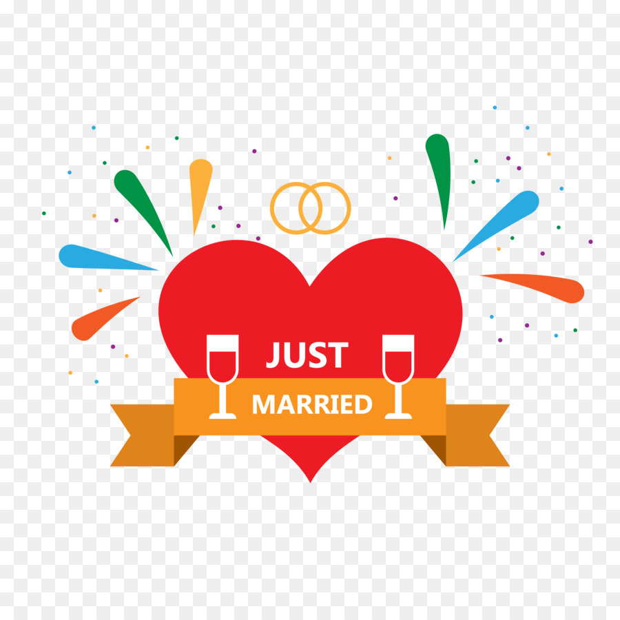 Just Married png download.