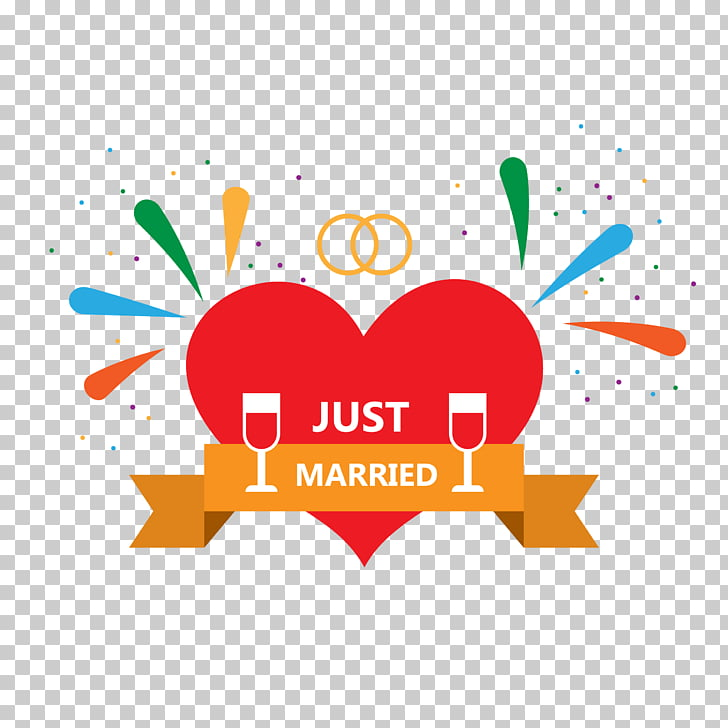 Marriage, Happy wedding PNG clipart.