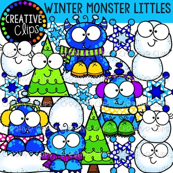 Winter Monster Littles: Winter Clipart {Creative Clips Clipart}.