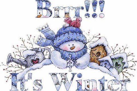 Brrr It\'s Winter! winter snow snowman graphic winter quote.