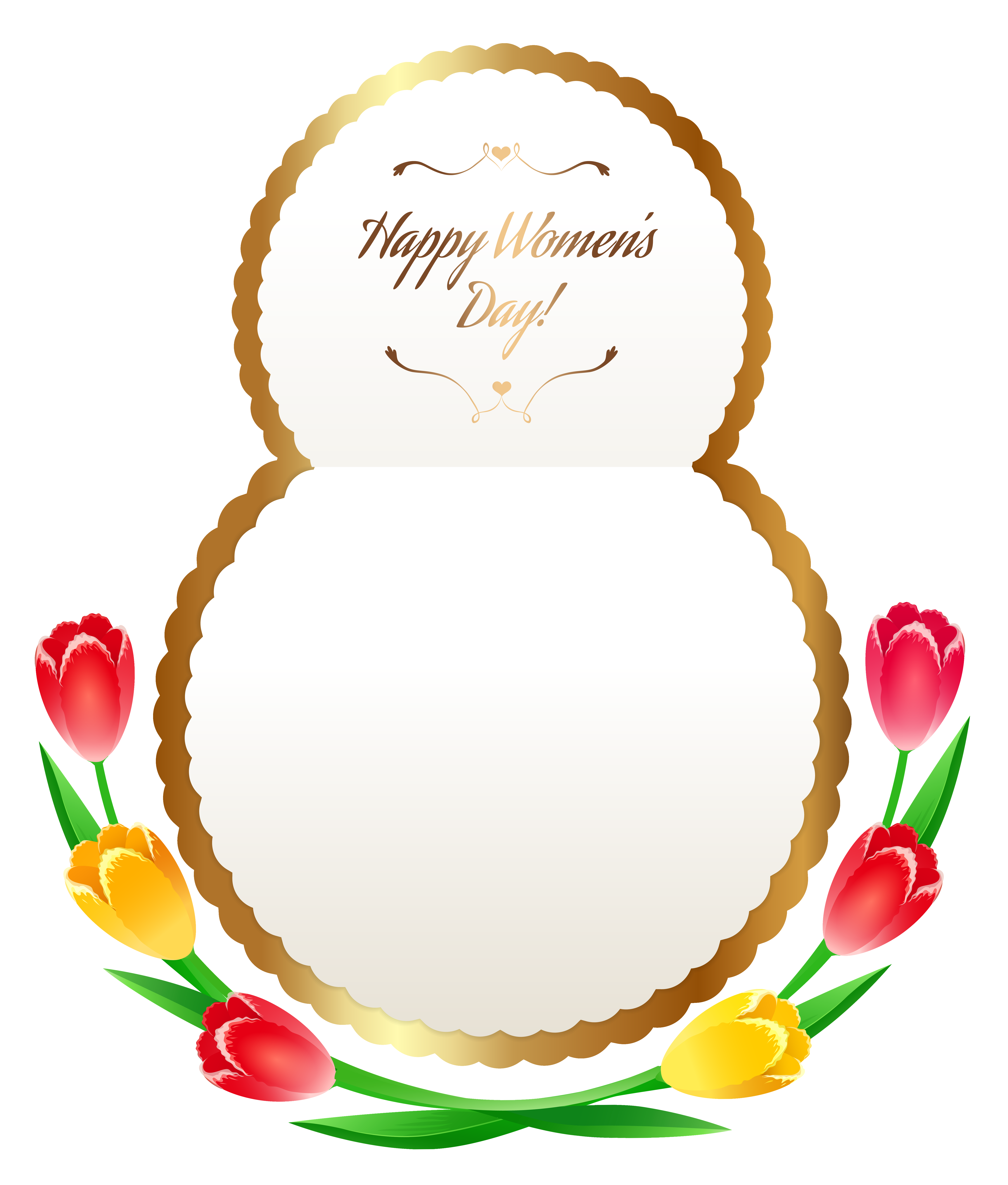 Happy Womens Day PNG Clipart Image.