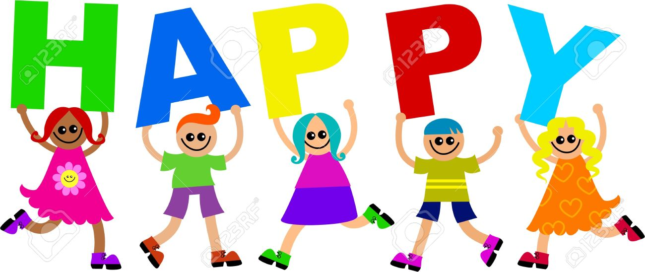Happy word clipart 5 » Clipart Station.