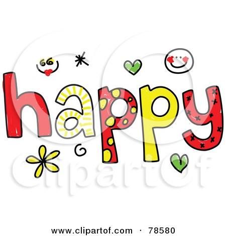 Happy word clipart 2 » Clipart Portal.
