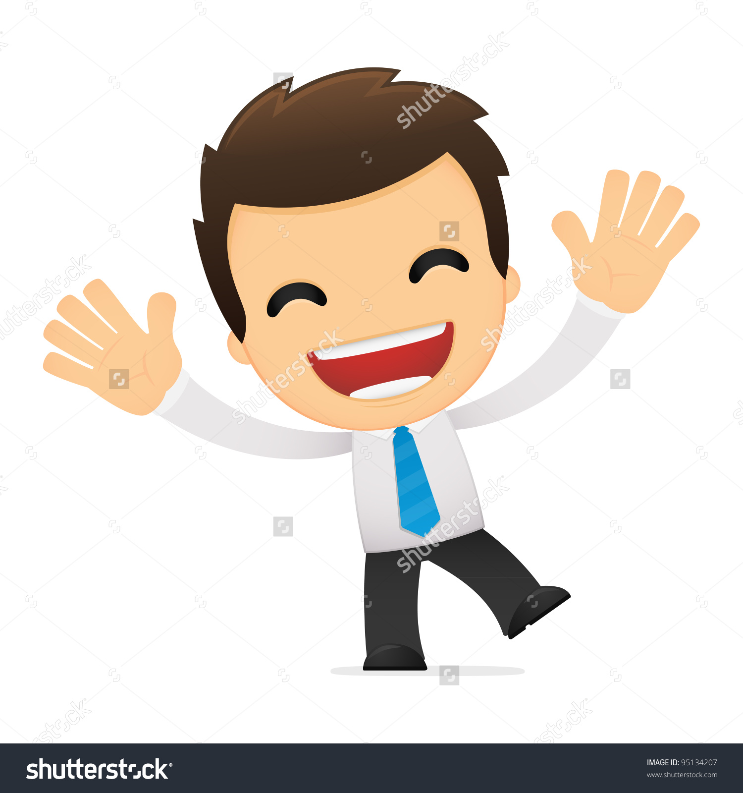 Similiar Happy Office Worker Cartoon Keywords.