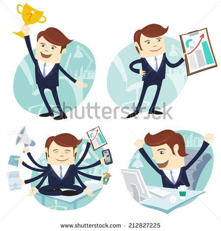 Happy Workers Stock Vectors, Images & Vector Art.