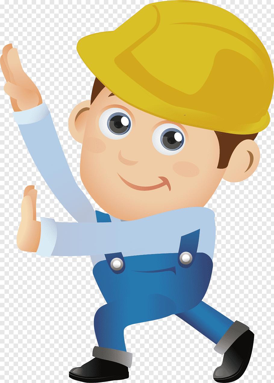 Man wearing yellow hard hat art, Architectural engineering.