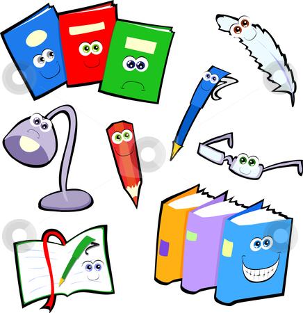 Happy writing icons stock vector.