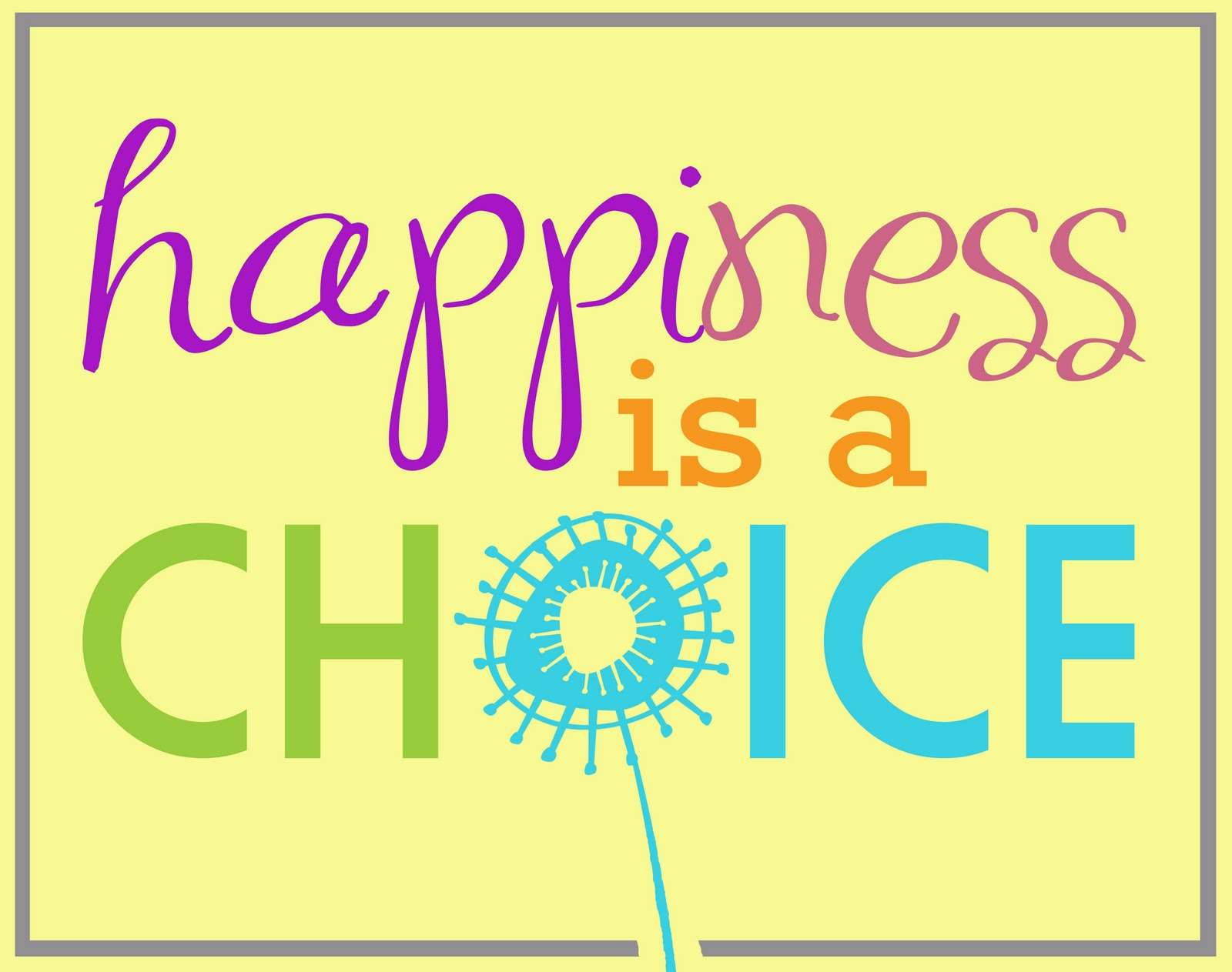 Choose Happiness Clipart.