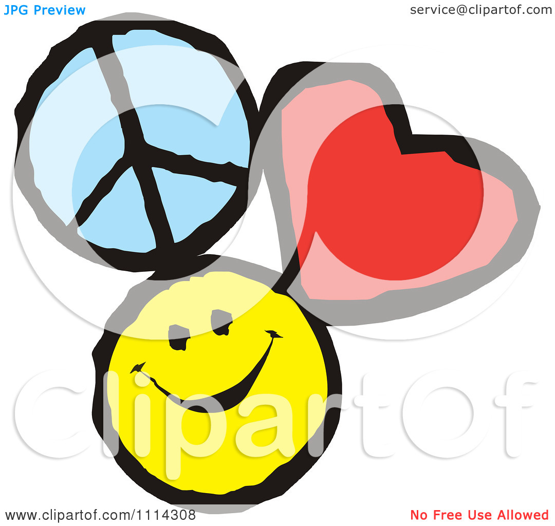 Peace love happiness clipart.