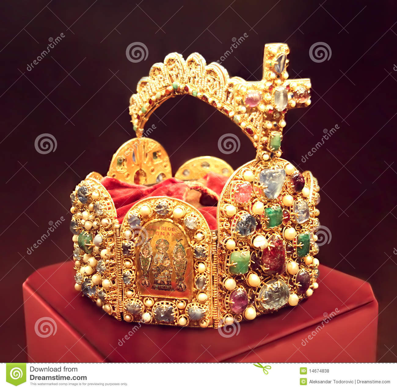 Crown Of The Emperor Of Hapsburg Monarchy Royalty Free Stock.
