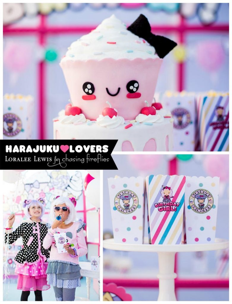 Faith's 7th Birthday Ideas With Cute Harajuku Clip Art And Modern.