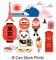 Harajuku Vector Clip Art Illustrations. 5 Harajuku clipart EPS.