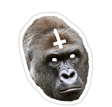 RIP Harambe Sticker transparent PNG.