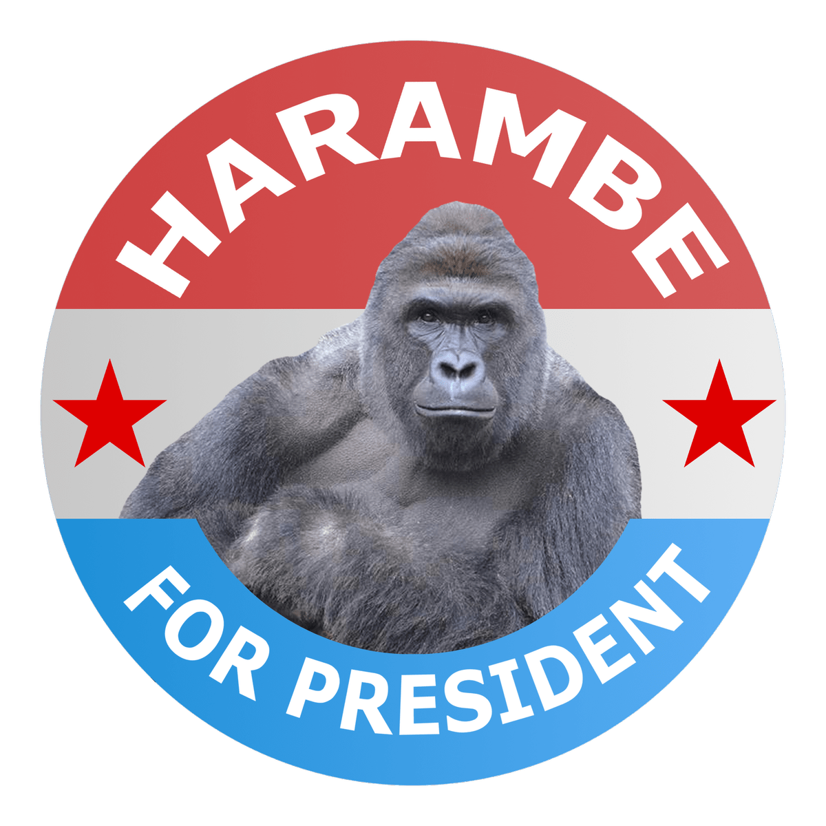Harambe For President transparent PNG.