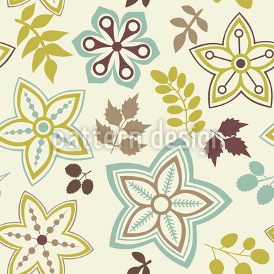 And Flower Are Harbingers Of Spring Seamless Vector Pattern.