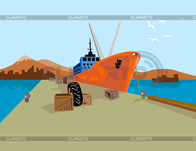 Harbor Ship Clip Art.