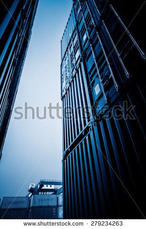 Shanghai Harbor Stock Photos, Royalty.