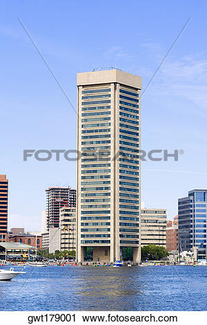 Stock Photography of Buildings at the waterfront, World Trade.