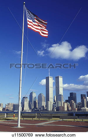 Stock Photograph of New York City, New York, A view of the skyline.