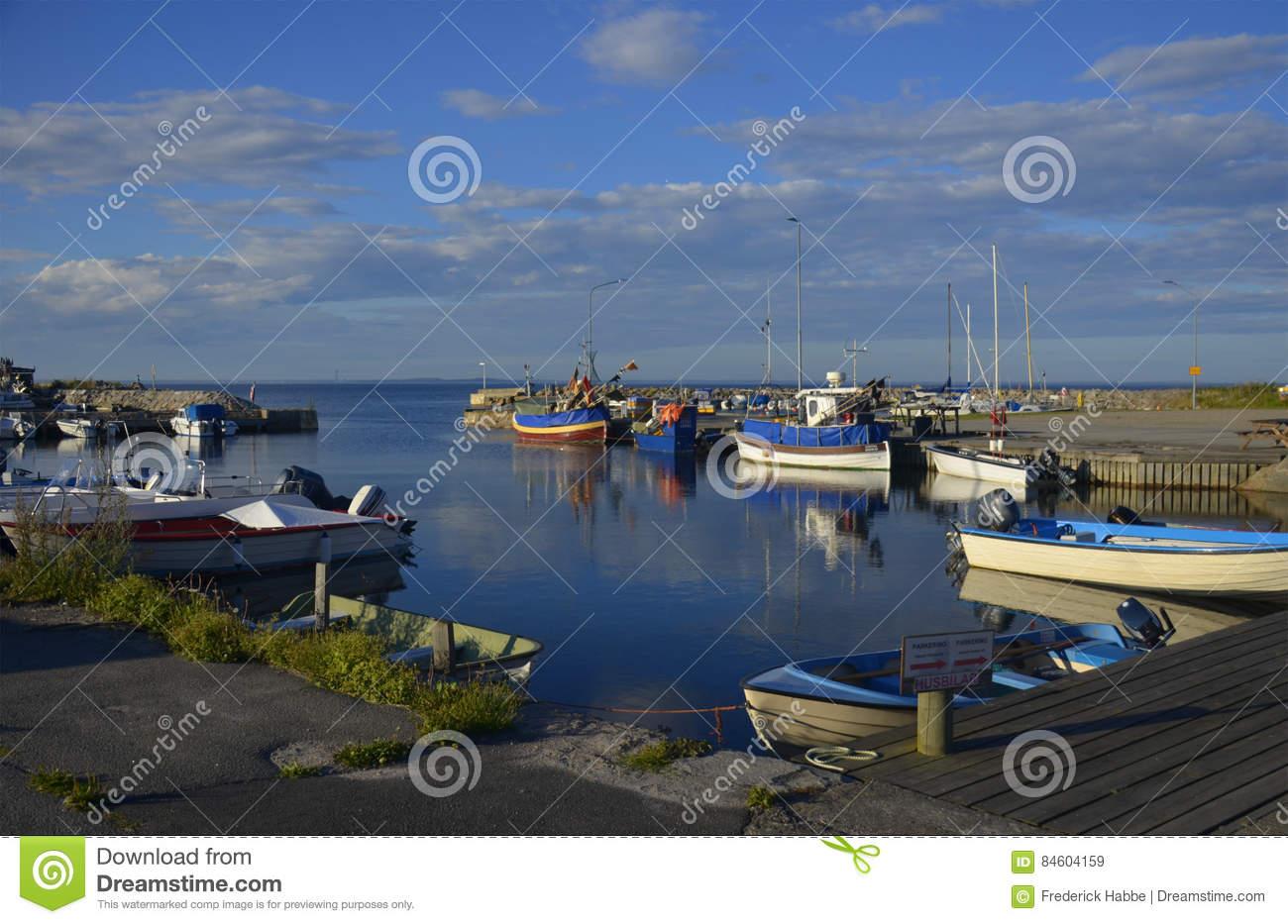 Kivik Harbour Editorial Stock Image.
