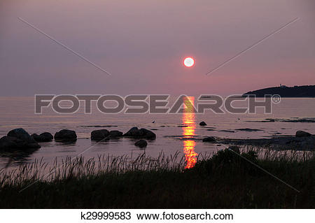 Stock Photo of Sunset At Rocky Harbour k29999583.