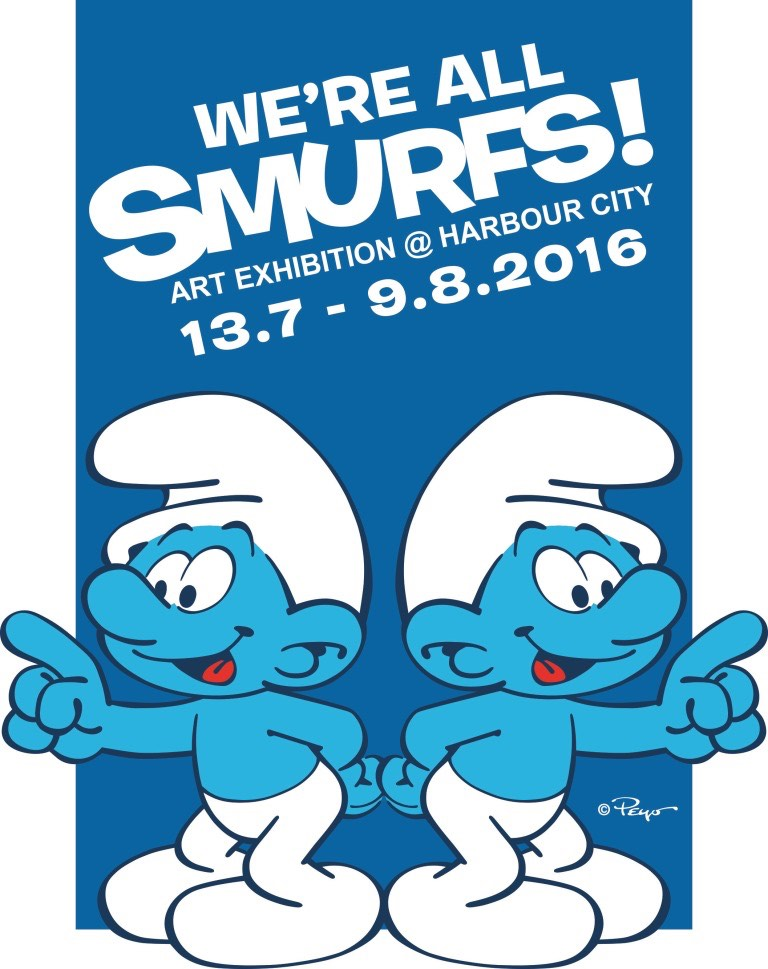 """Harbour City Hong Kong Transforms Into """"We're All Smurfs!"""" Village."""