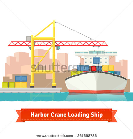 Harbour Crane Stock Images, Royalty.