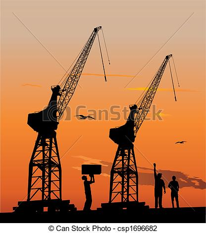 Harbour crane Vector Clip Art Illustrations. 143 Harbour crane.