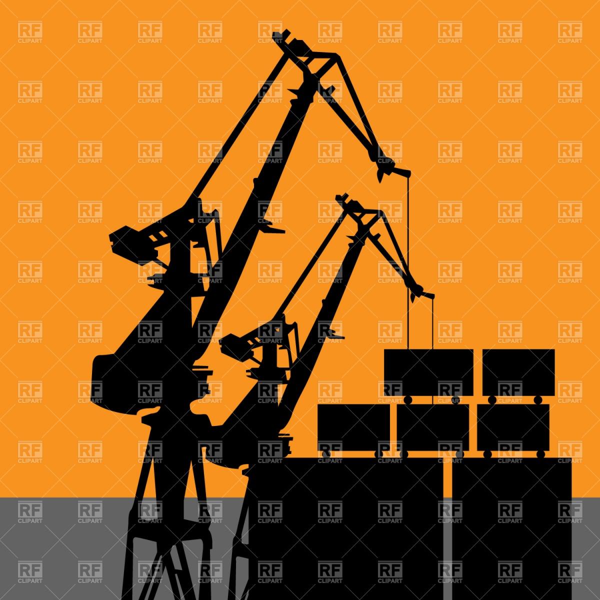 Coal harbor crane Vector Image #1188.