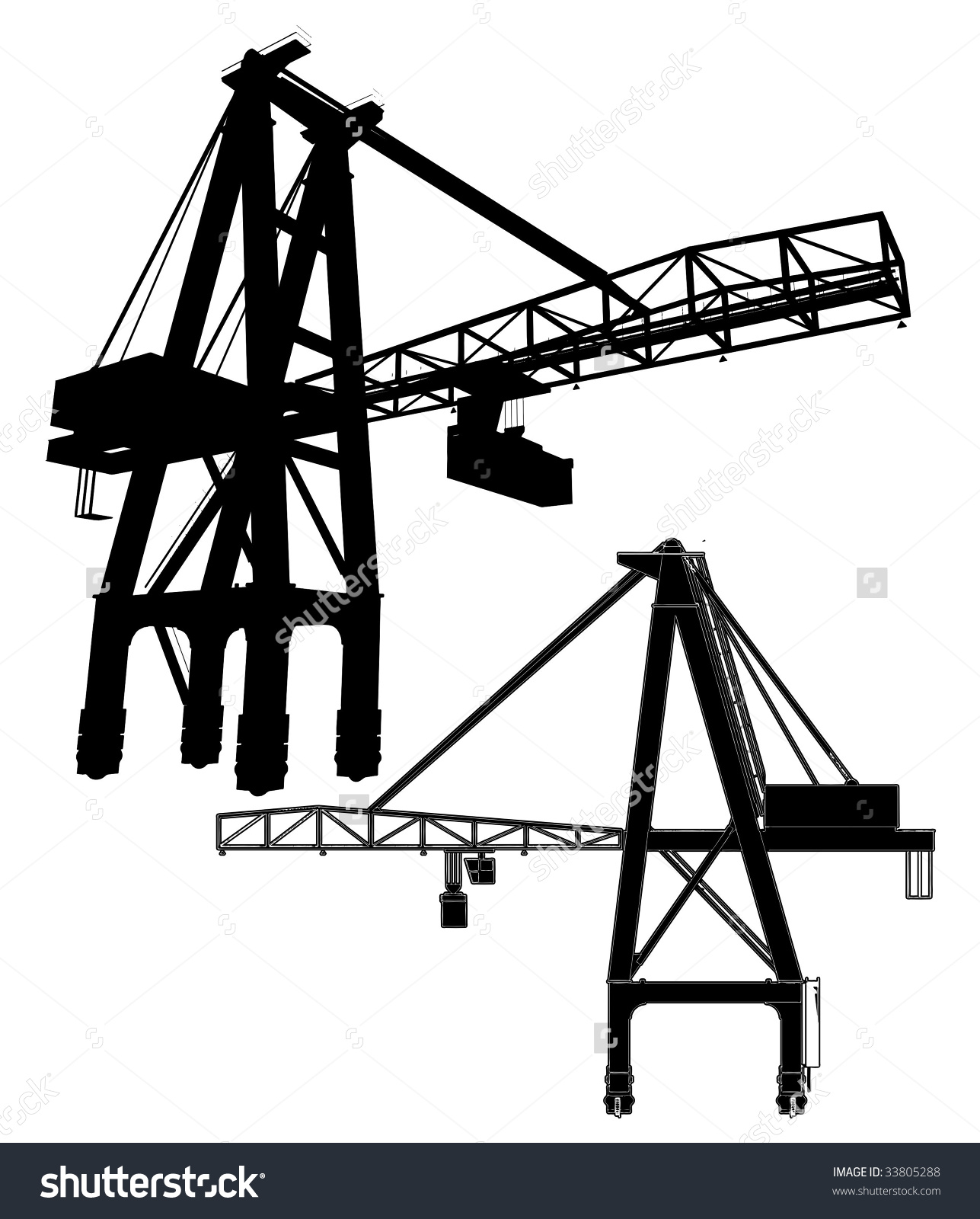 Gantry Crane Vector 01 Stock Vector 33805288.