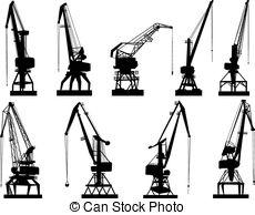 Derrick crane Vector Clip Art Illustrations. 440 Derrick crane.