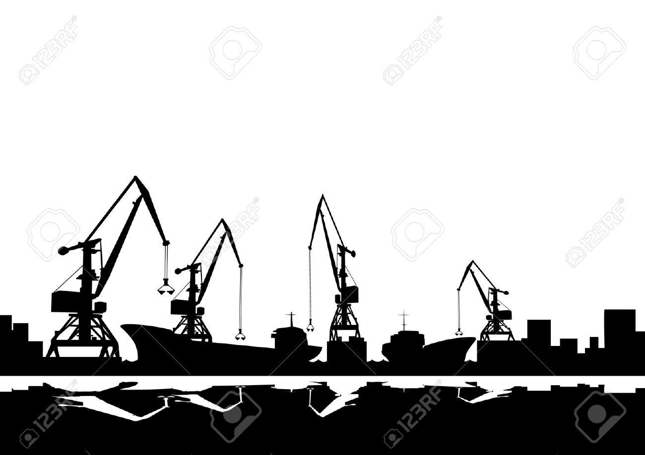 Port Crane Clip Art.