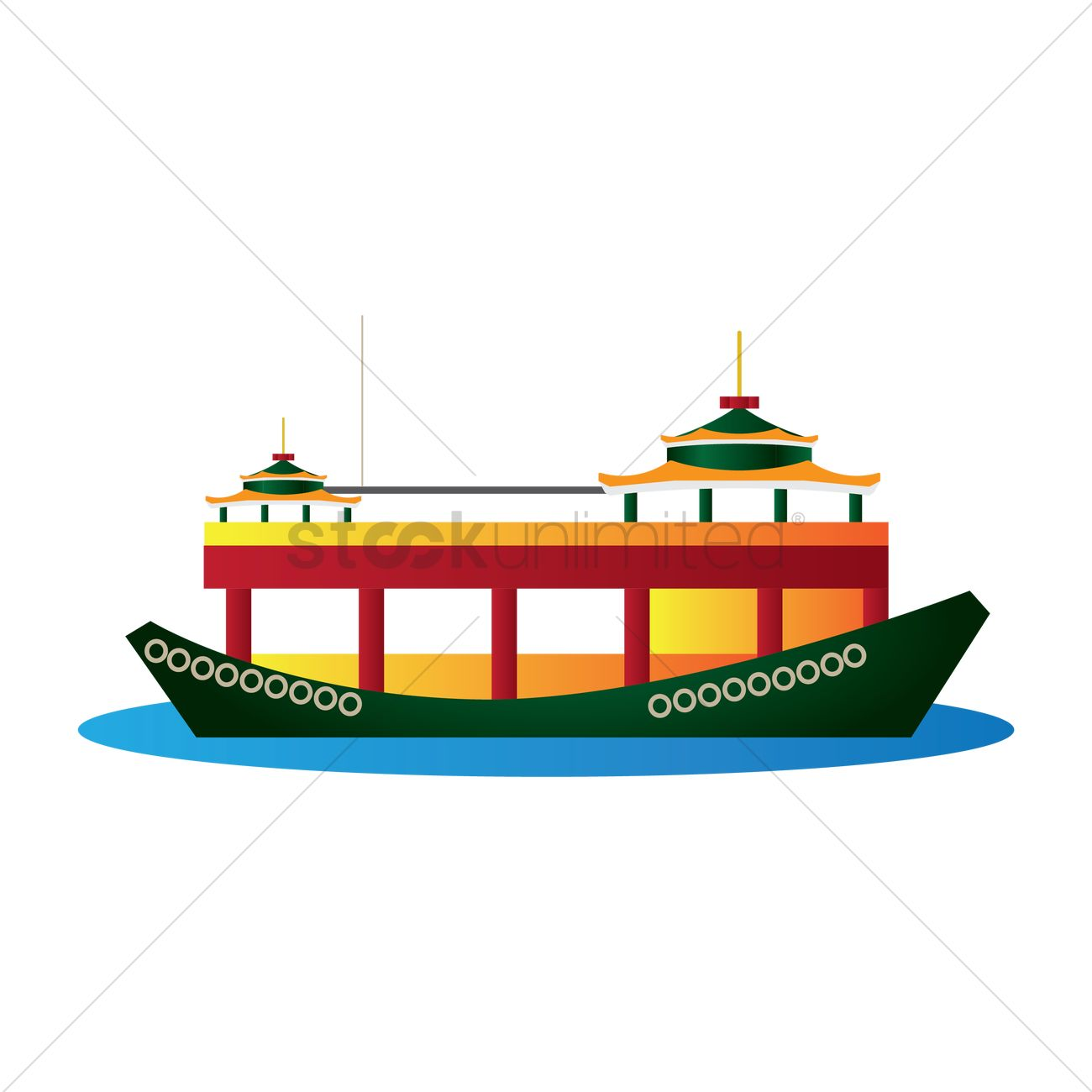 Victoria harbour cruise Vector Image.