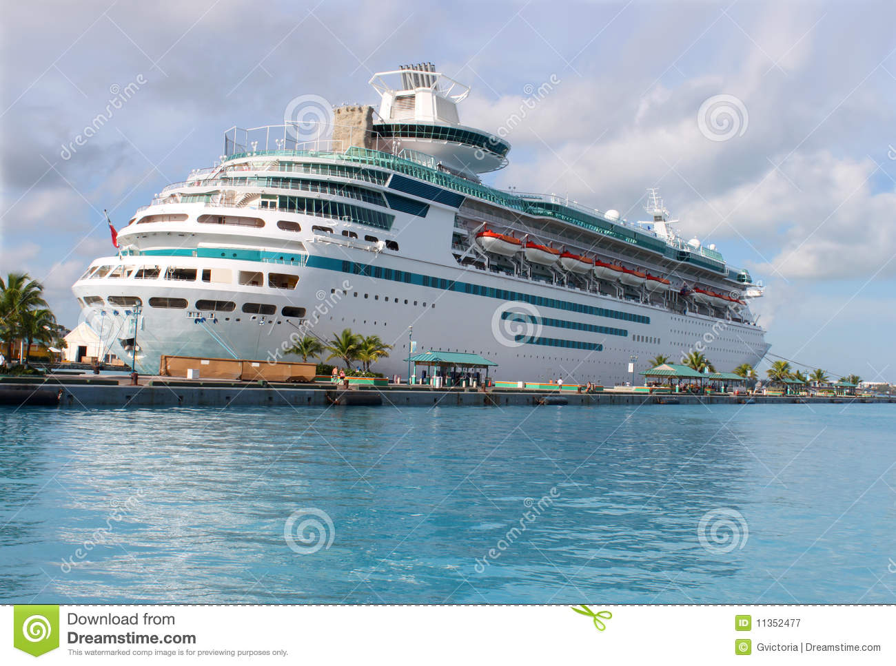 Cruise Ship In Nassau Harbour Royalty Free Stock Photography.