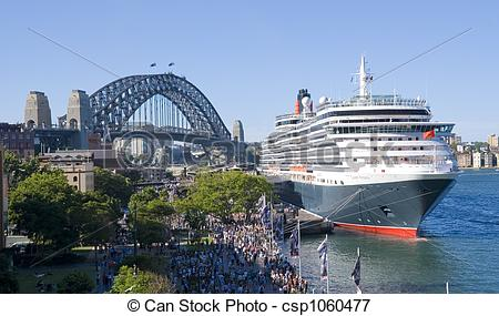Picture of Queen Victoria Cruise Ship Sydney Harbor.