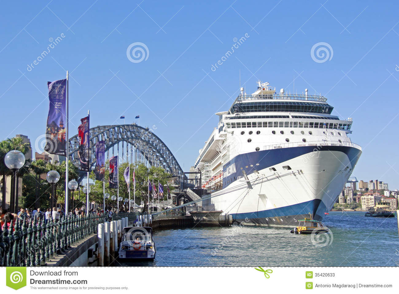 Harbour Bridge Sydney Australia Editorial Stock Photo.