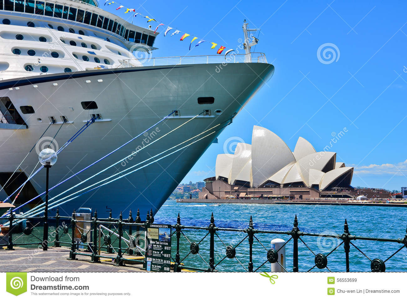 Sydney Opera House And A Cruise Ship In Sydney Harbour Editorial.