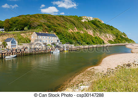 Pictures of Axemouth Harbour Devon.