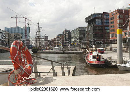 """Stock Photography of """"HafenCity with the harbour museum."""