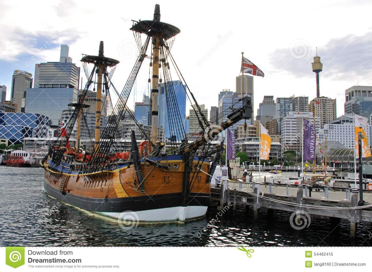 ENDEAVOUR Replica, Australian National Maritime Museum Editorial.