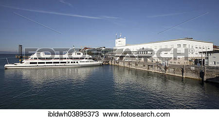 """Stock Photo of """"Passenger ship in the harbour in front of the."""