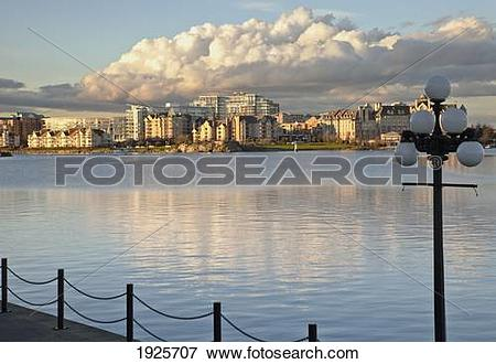 Picture of inner harbour view in downtown; victoria, british.