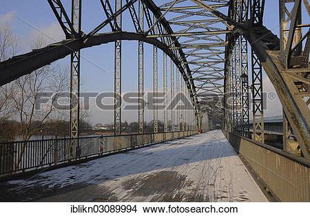 "Stock Photo of ""Alte Harburger Elbbruecke or Old Harburg Bridge."